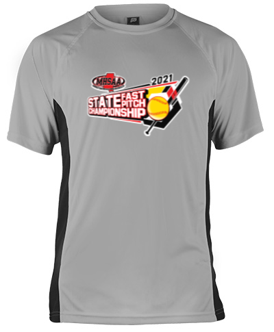 Short Sleeve Gray Performance With Black Side Insert