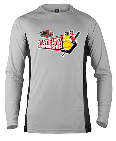 Long Sleeve Gray Performance With Black Side Insert