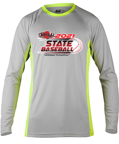 Long Sleeve Gray Performance With Neon Green Side Insert
