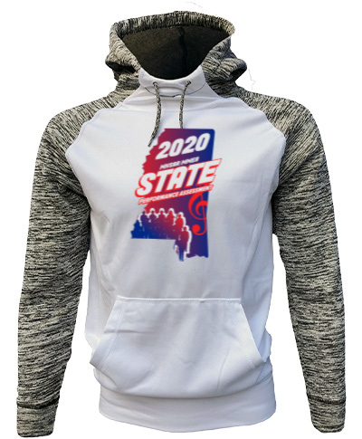 White/Gray Performance Hoodie