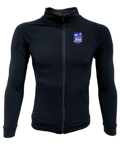 Full Zip Black Lightweight Jacket