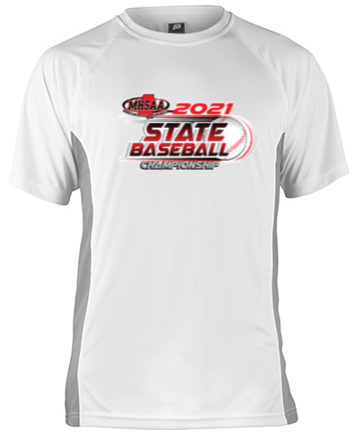 Short Sleeve White Performance With Gray Side Insert